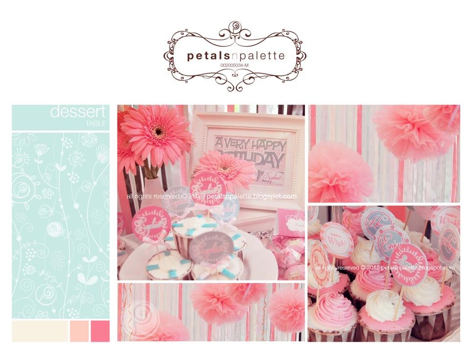 Colour Scheme - Palette of Light Pink , Mint Green & Baby Blue