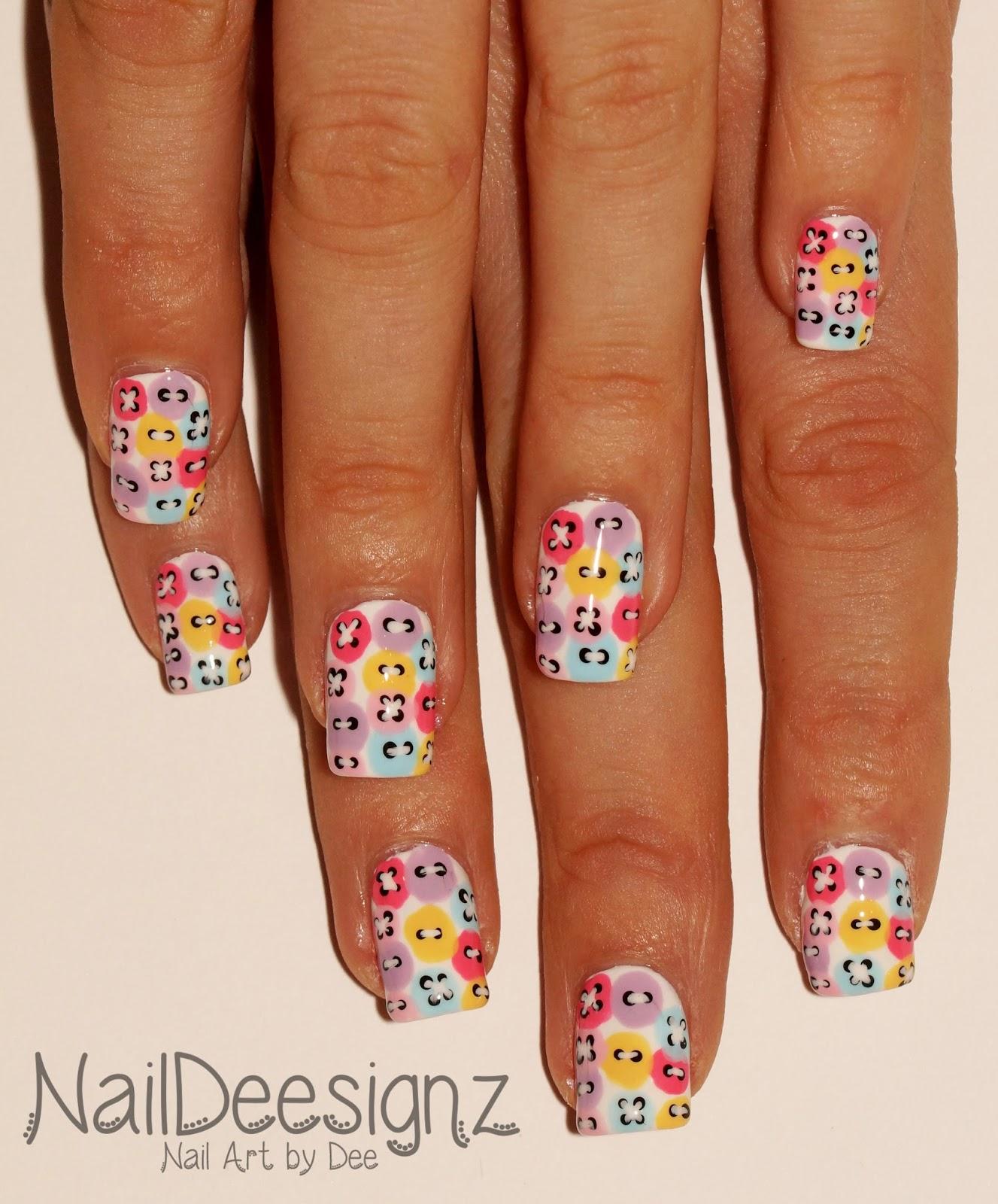 Nail Buttons: NailDeesignz: Button Nail Art