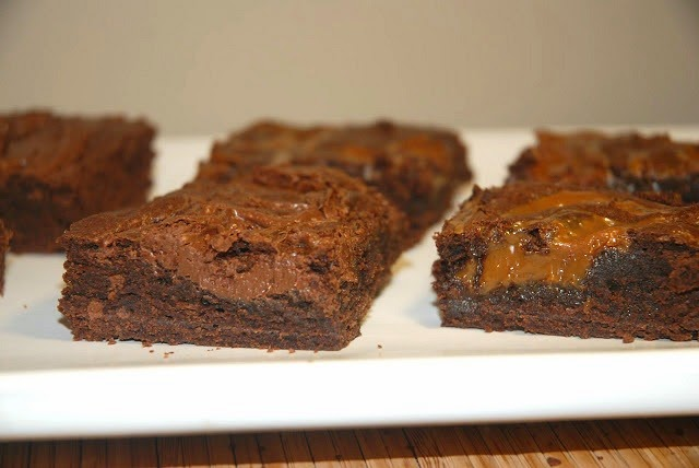 Brownies with Nutella or Dulce de Leche