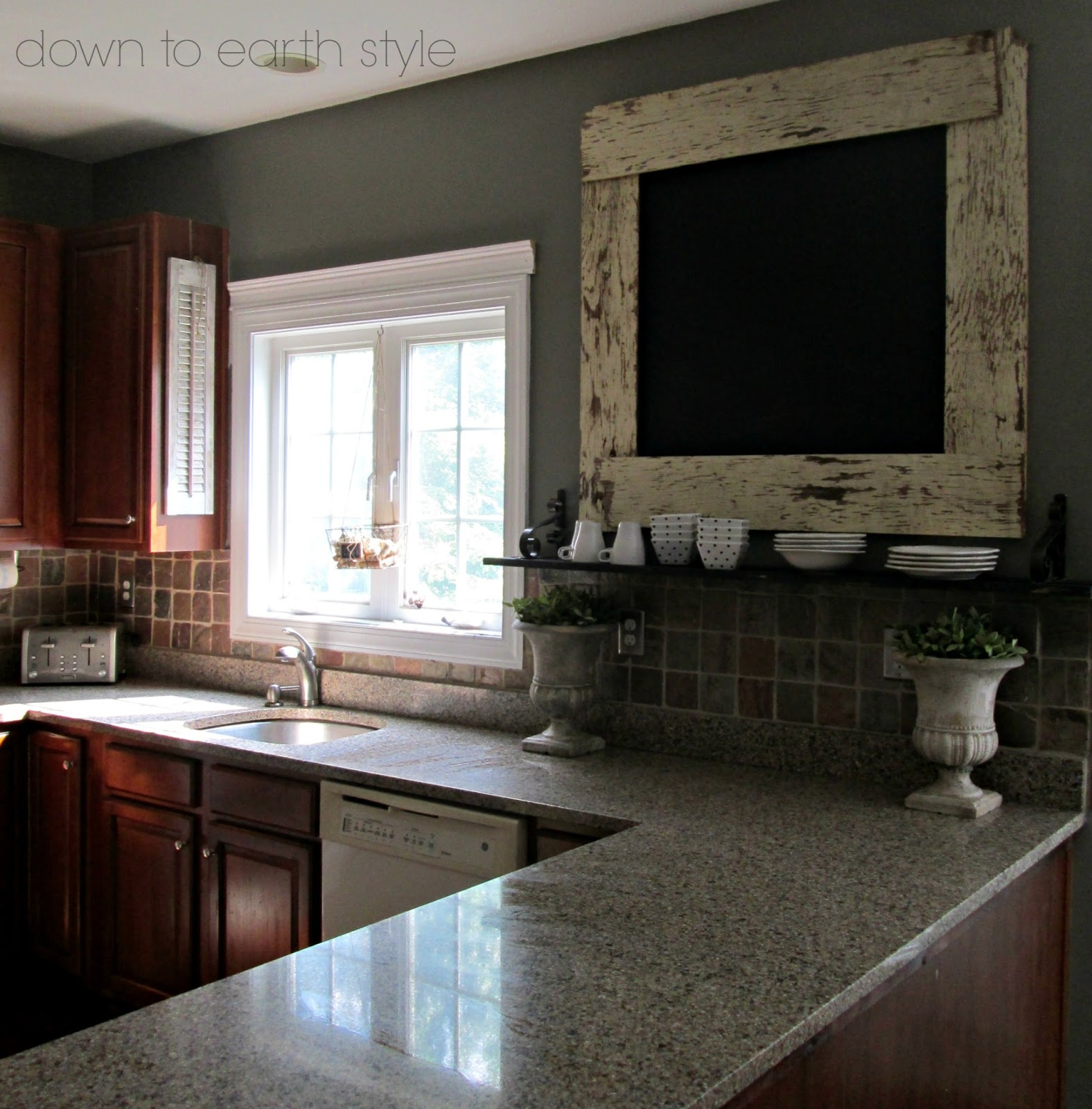 Chalk Paint Kitchen Cabinets Green: Down To Earth Style: Remove A Kitchen Cabinet For Openness