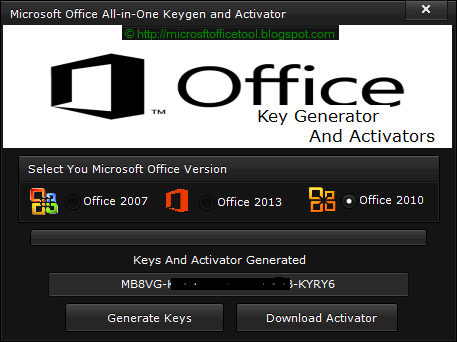 Free Microsoft Office 2010 Keys