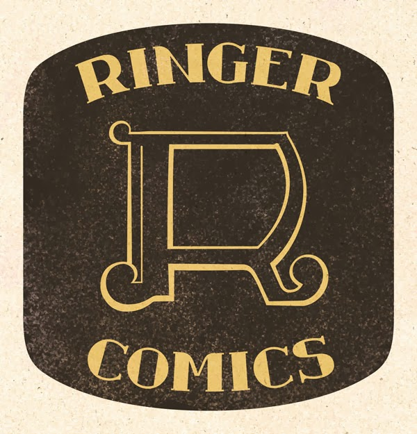 Ringer Publishing - Ringer Comics Logo Design 1960's - Curio & Co. www.curioandco.com - Design by Cesare Asaro