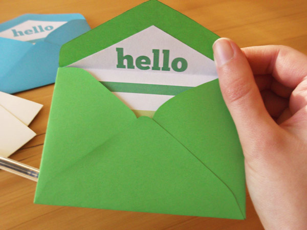 mini envelope in hand
