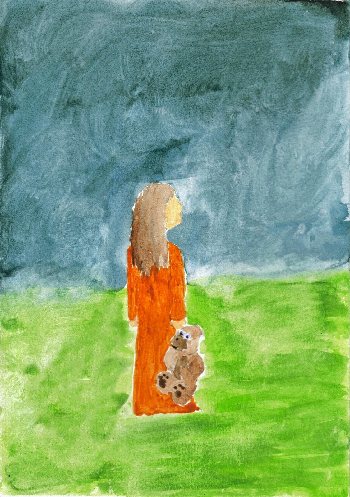 child, sky at night, gaze, wonder, God
