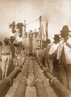 Obras de reparación del acueducto en 1917