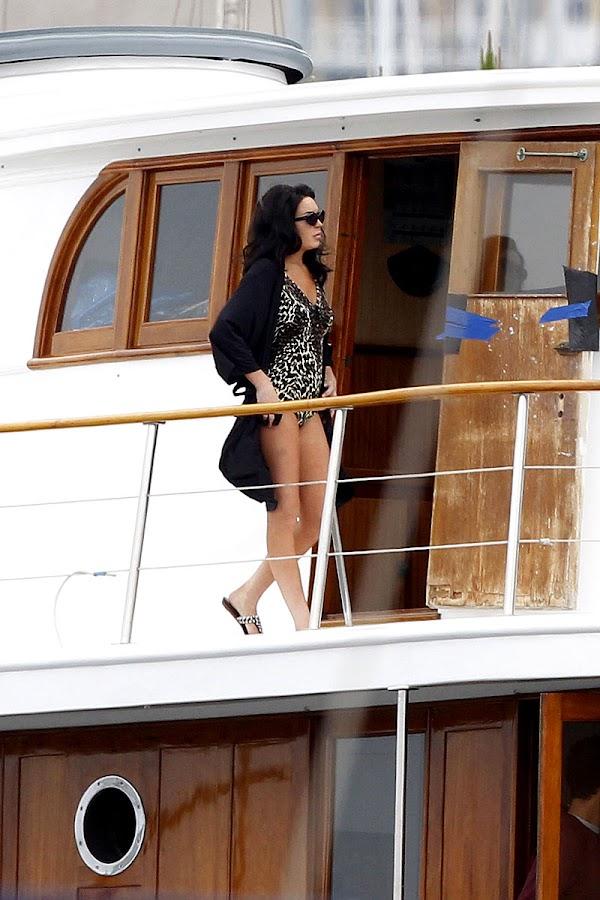 LINDSAY LOHAN on ta yacht