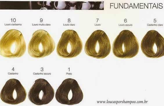 loucasporshampoo Tabela de Cores fundamentais