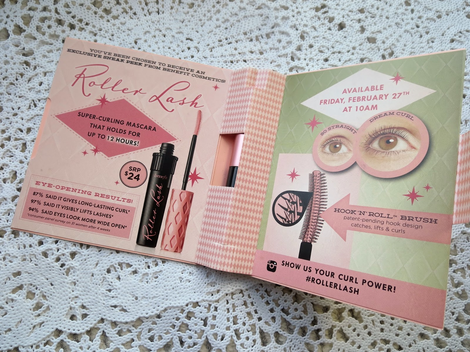 a picture of Benefit Roller Lash Mascara (sample packaging)