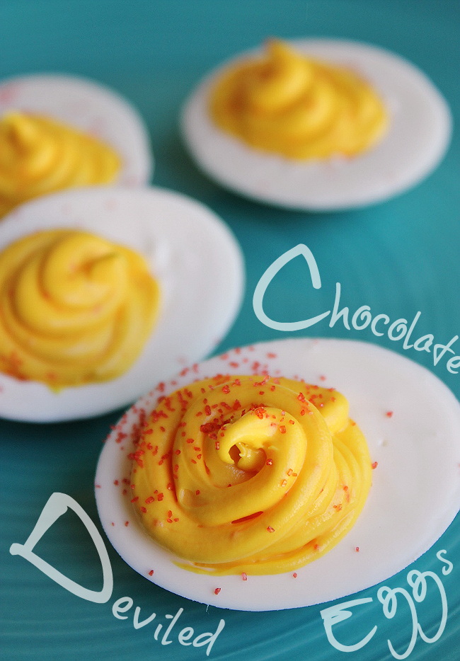 Double Take Chocolate Deviled Eggs for cookouts or April Fool's!