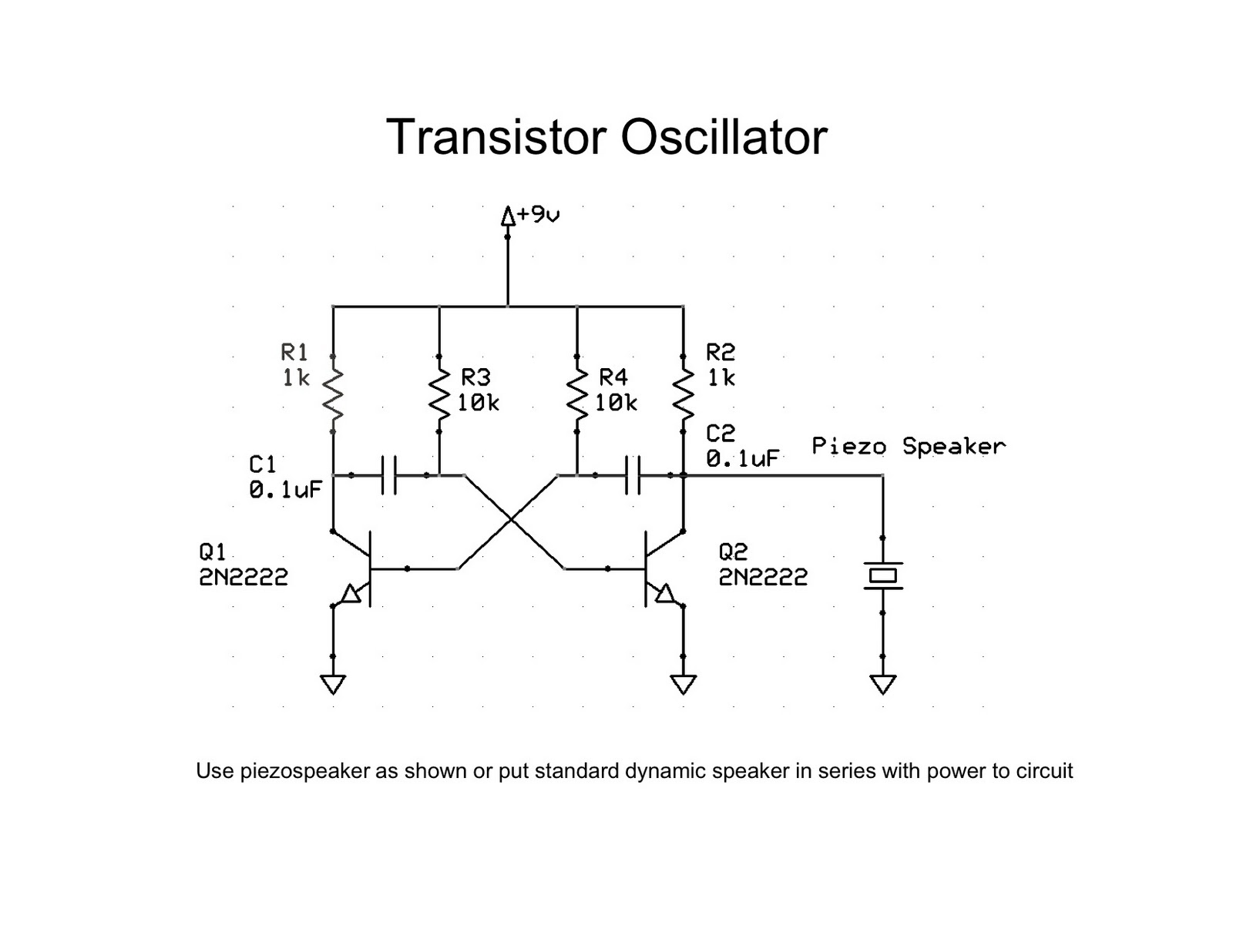 Un oscilador que oscila demasiado Transistor+oscillator