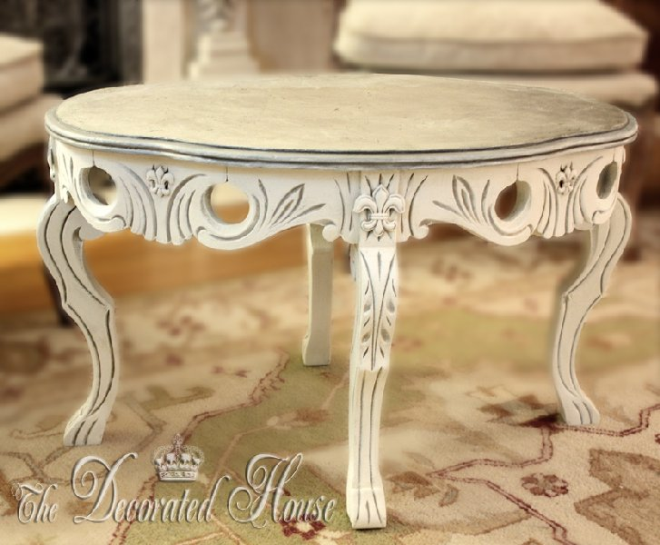 chalk paint coffee table - best painting of all time