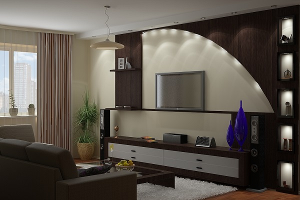 pop wall design ideas for living room - Wall Picture Design