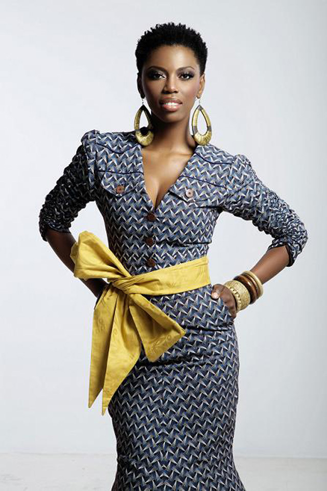 South African Singer lira in african designer wear