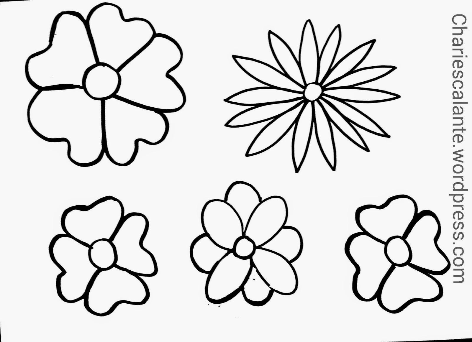 Flores Para Pintar En La Pared. Flores Para Colorear Gratis Para Y ...