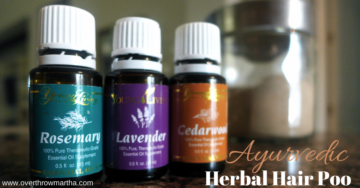 DIY hair care using Ayurvedic hair powders and essential oils