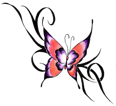 Dessin Tatouage Papillon Tribal - Modèles de tatouages de papillons Tattoo Tatouage