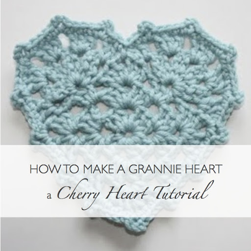 Free Crochet Granny Heart Pattern : Tutorials