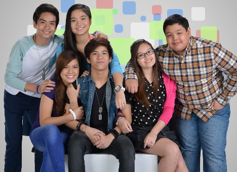 The new cast of ABS-CBN's LUV U: Jairus, Sharlene, Alexa, Nash, Mika and Kobi