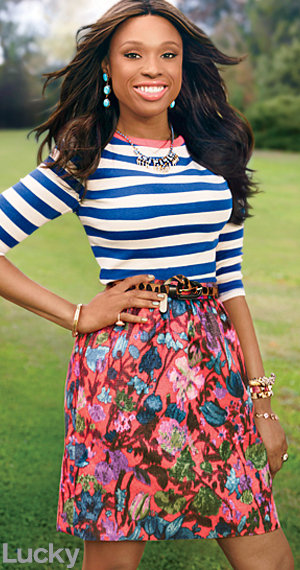 Lucky Magazine, Jennifer Hudson, the Queen City Style, print mixing, Charlotte Parent Magazine