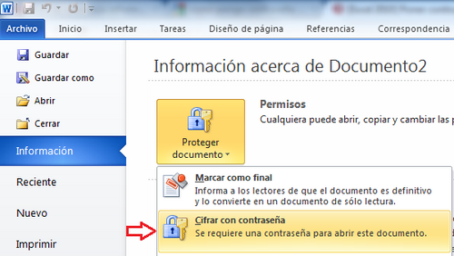 Informatica i poner contrase a a un documento de word y for En word cual es el interlineado