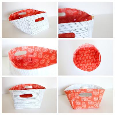 Reversível Tecido Basket Tutorial por Delia Cria
