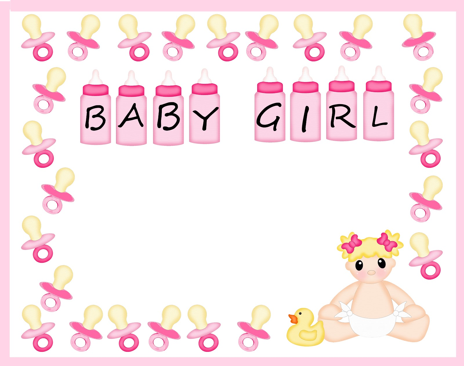My Cricut Craft Room  Baby Shower Blog Hop Baby Girl Borders