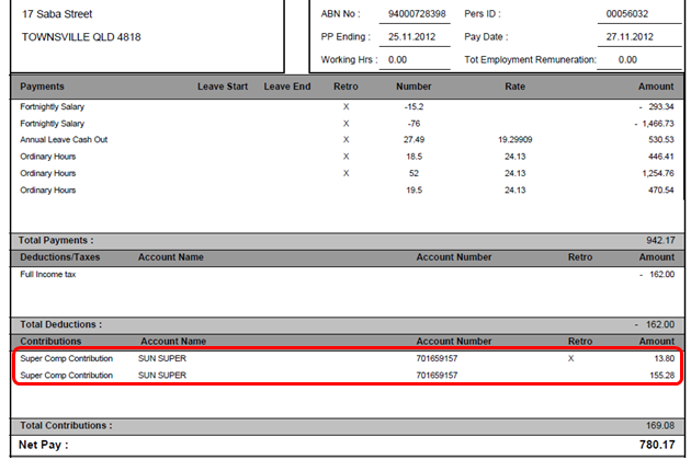 nsw payslip template - journey into sap hcm and abap australia showing retro