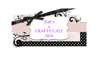 Yay! I was a Top Three at Crafty Catz!