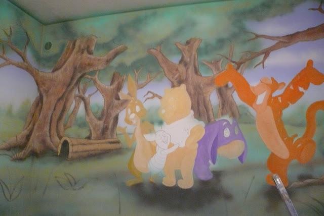 Malarstwo ścienne, aranżacja pokoju dziecięcego, Lublin