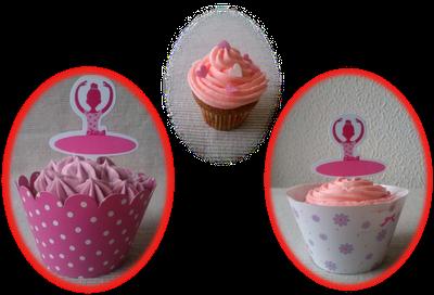 Cupcake Bailarina Danza Femenino Vainilla Rosa Cumpleaños Aniversario Boda Fiesta Comunión Niña Buttercream Azúcar Glas Receta Fácil