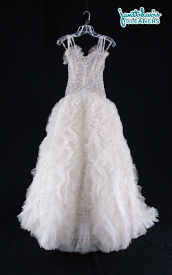 Paola D'Onofrio Wedding Gown Cleaned at Janet Davis Cleaners in Bloomfield & Berkley MI