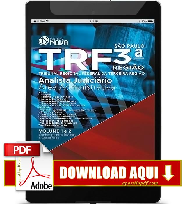 Apostila TRF 3ª Região Analista Judiciário PDF Download