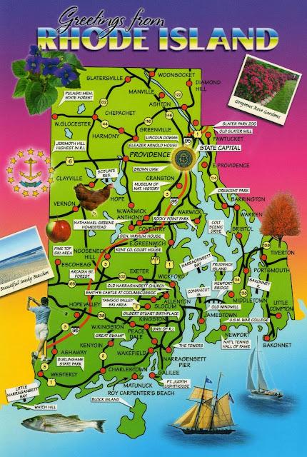 Online Maps Rhode Island Postcard Maps