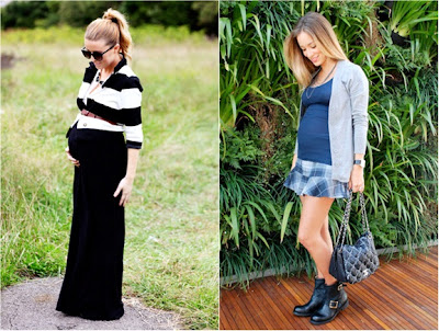 5 peças que não podem faltar para as grávidas - saia longa e casaco para gravidas