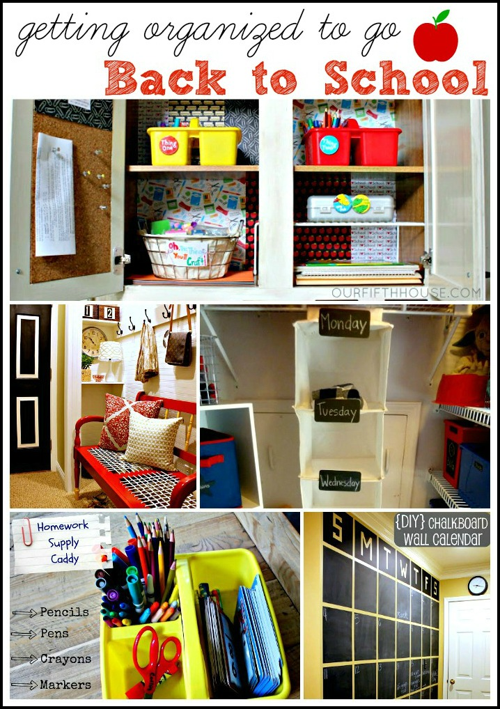 Our fifth house 5 back to school organization ideas