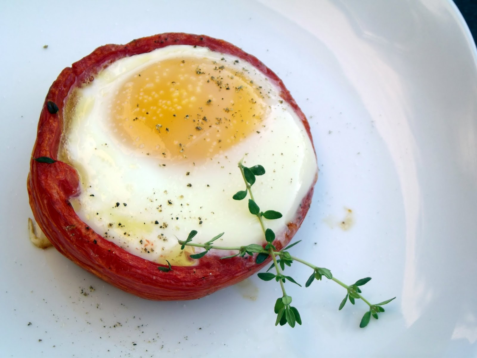 Baked eggs in Whole Roasted Tomatoes , adapted from Whole Living ...