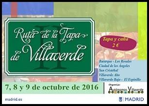 Ruta de la Tapa en Villaverde 2016