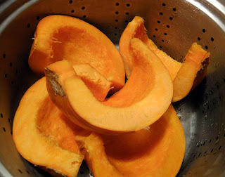 Pumpkin Pieces in Steamer