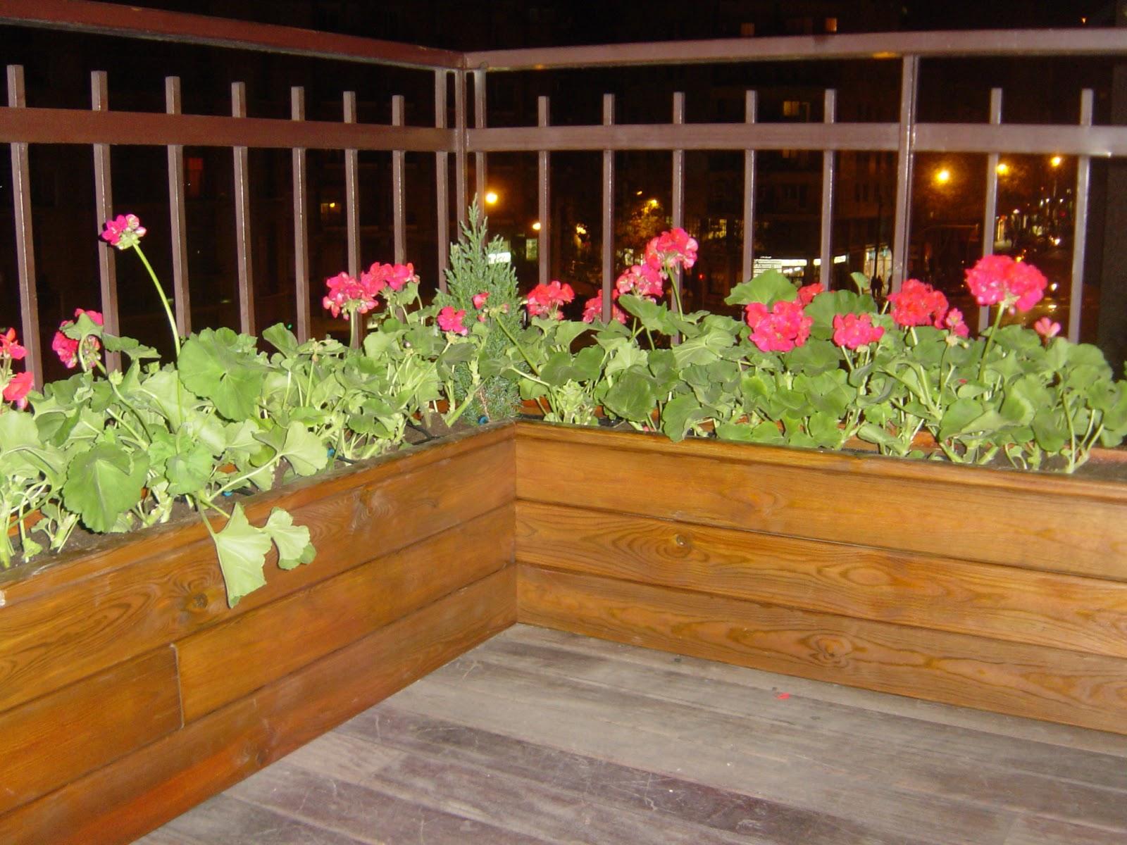 Jardineras de madera de pino a medida para terrazas - Plantas terraza ...
