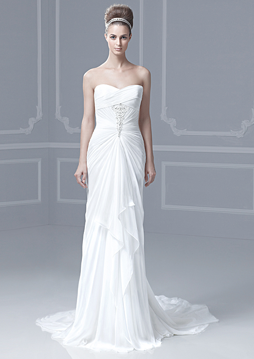 chiffon sweetheart Destination wedding dress