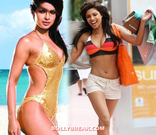 Priyanka chopra in bikini - Famous Bollywood Actresses in Bikini