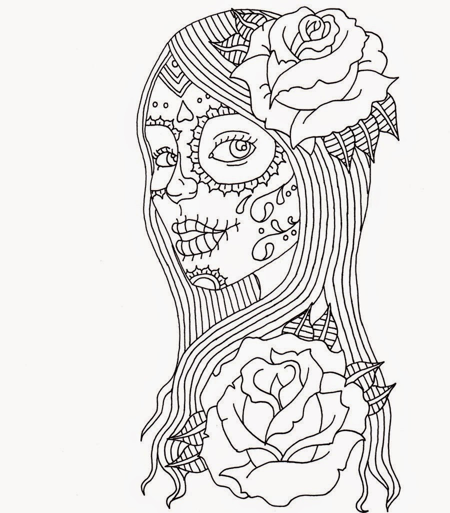 a dogs life day of the dead coloring page