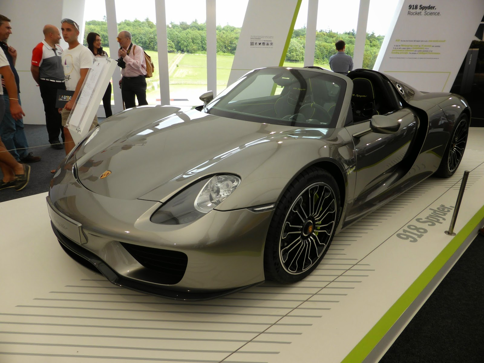 You'll find this Porsche 918 Spider in the huge Porsche building at the north east of the site
