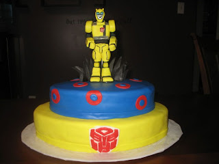 Transformers Birthday Cake decoration