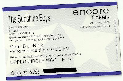 The Sunshine Boys Savoy Theatre ticket