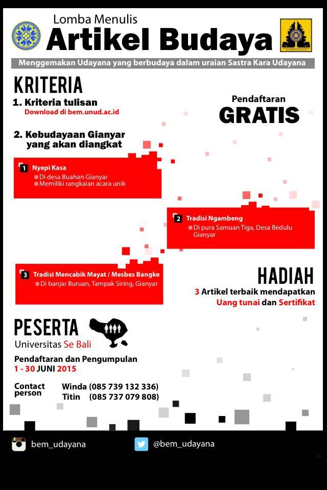 Lomba Artikel Budaya Bali