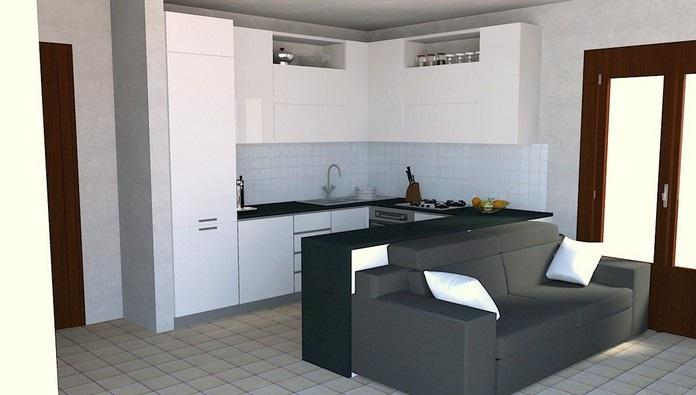Furniture interior design kitchen horseshoe for Horseshoe kitchen decor