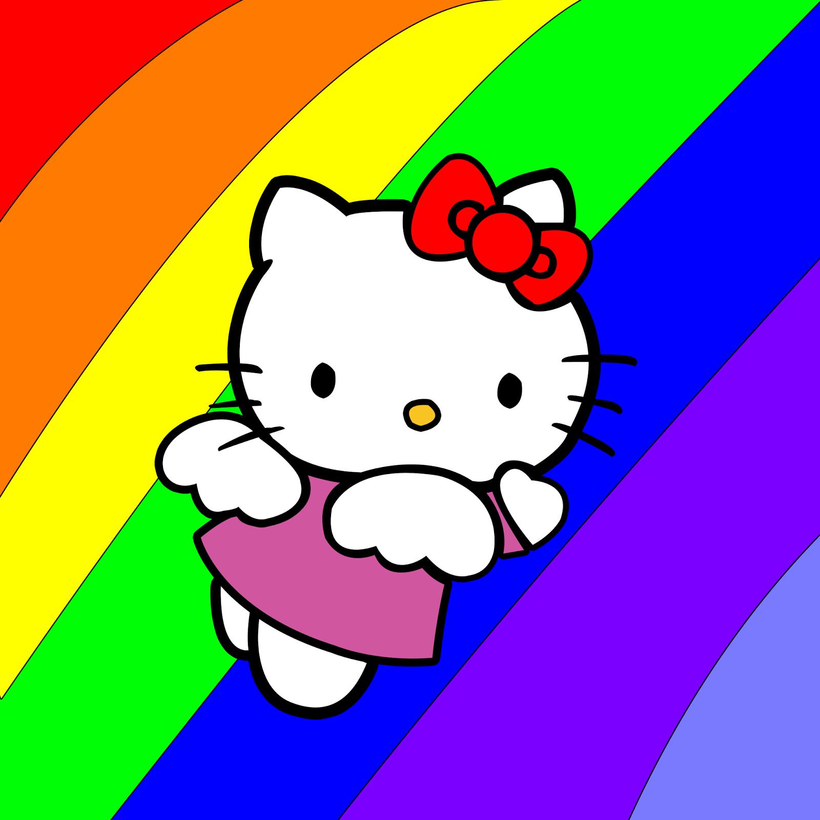 Hello Kitty imagenes con flores #AmoryAmistad Google