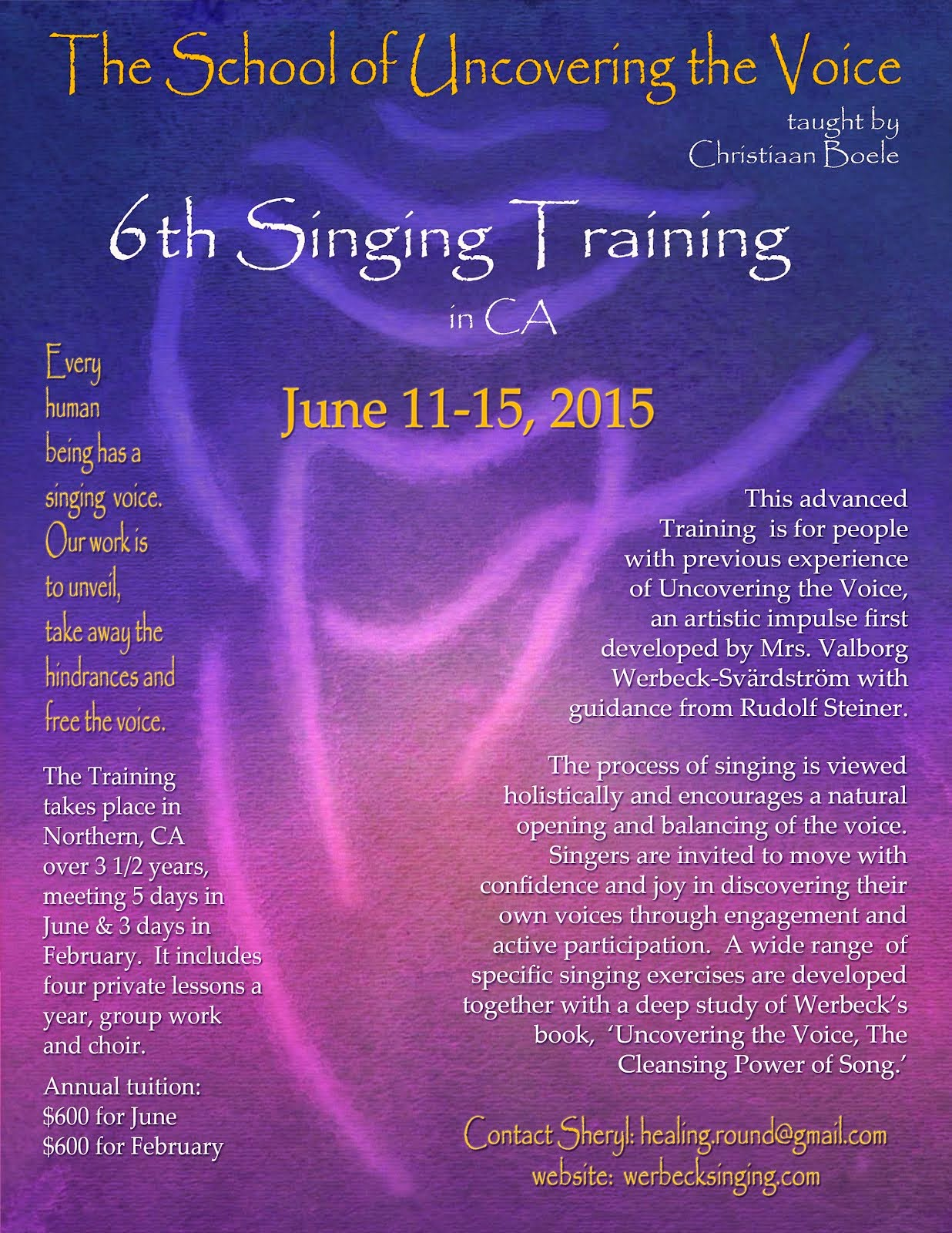 6th Foundational Singing Training Beginning!