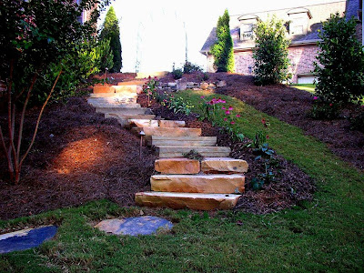 Dise o de escaleras para patios y jardines patios y jardines for Diseno de patios y jardines pequenos